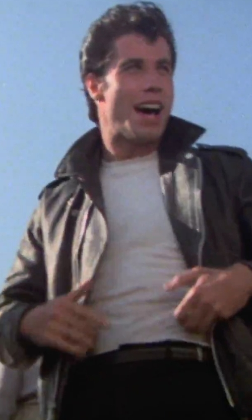 John Travolta with Trafalgar 'Rafferty' Leather Belt in Grease