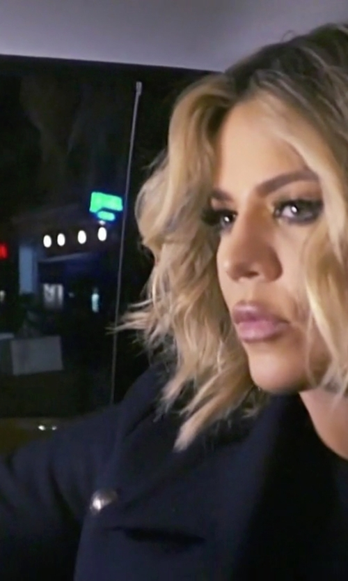 Khloe Kardashian with Barneys New York Military Long Coat in Keeping Up With The Kardashians