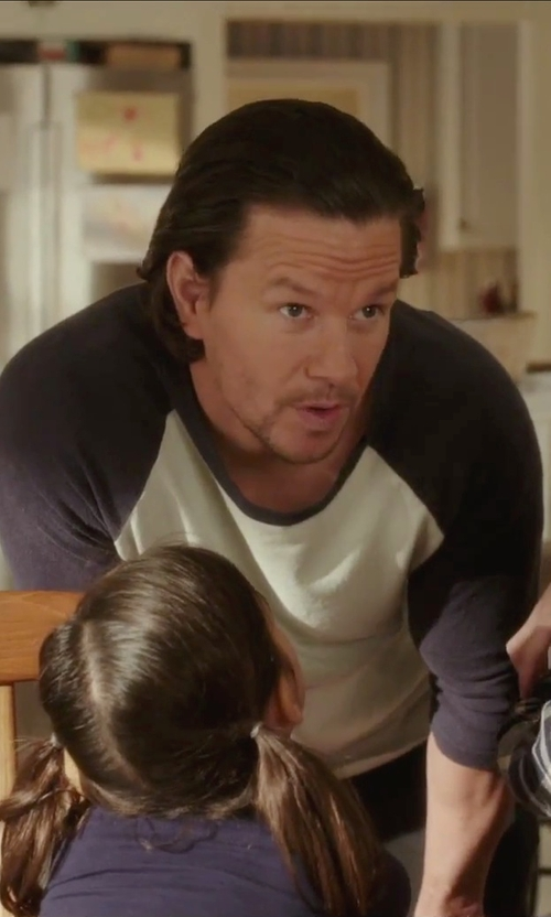 Mark Wahlberg with Todd Snyder 3/4 Sleeve Baseball Tee in Daddy's Home
