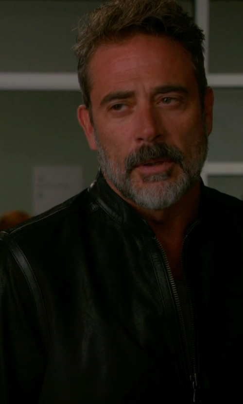 Jeffrey Dean Morgan with Rick Owens Classic Jacket in The Good Wife