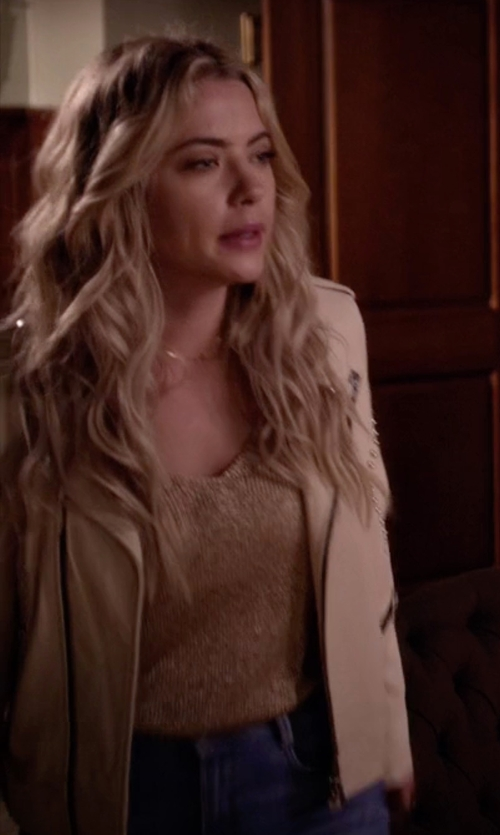 Ashley Benson with Caroline Rose Luminous Long Tank in Pretty Little Liars