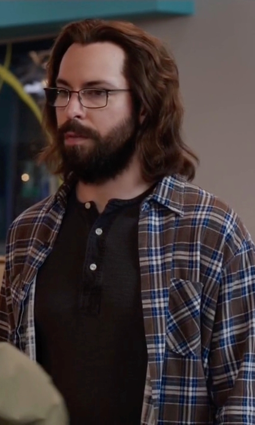 Martin Starr with Farah Plaid Check Shirt in Silicon Valley
