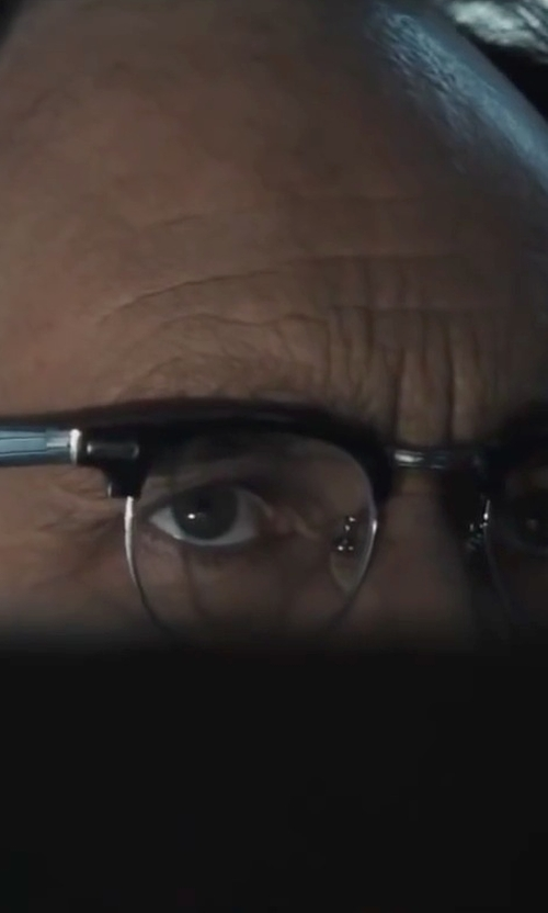 Mark Rylance with Ray-Ban Clubmaster Acetate And Metal Optical Glasses in Bridge of Spies