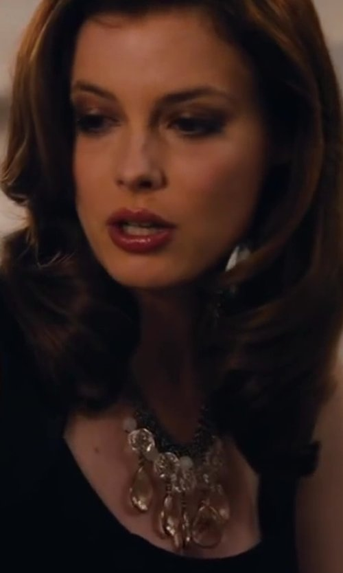 Gillian Jacobs with Perfect Details Crystal & Opal Statement Bridal Necklace in Walk of Shame
