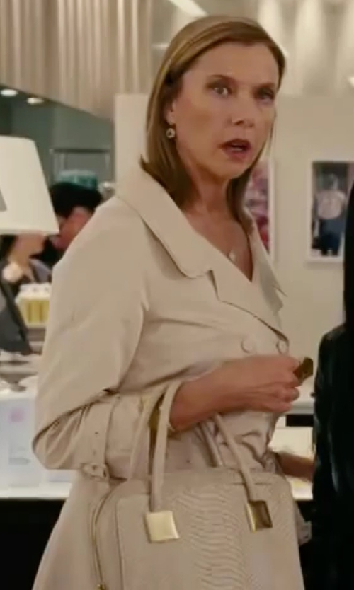 Annette Bening with Ralph Lauren Slim-Fit Cotton Trench Coat in The Women