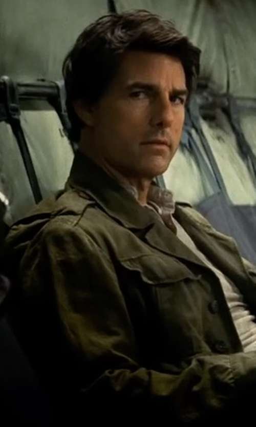 Tom Cruise with Belstaff Weymouth Linen-Cotton Utility Jacket in The Mummy