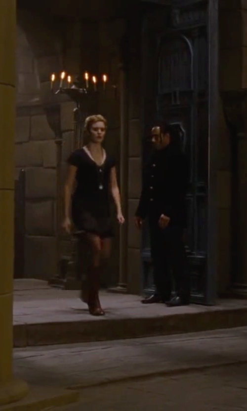 Maggie Grace with Joie Lebanon Lace Cap-Sleeve Dress in The Twilight Saga: Breaking Dawn - Part 2