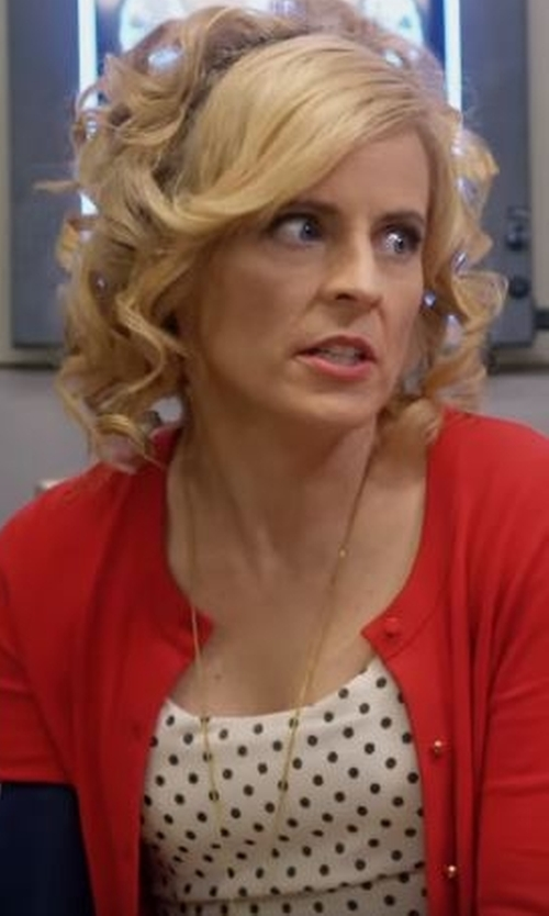Maria Bamford with Sisters Point Polka Dot Tank Top in Lady Dynamite