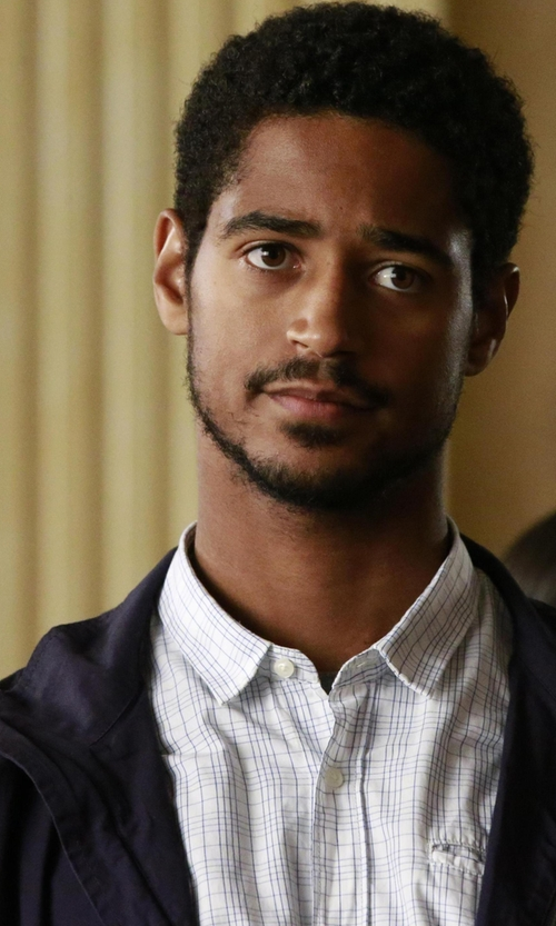 Alfred Enoch with Peter Millar Westport Wool-Cashmere Jacket in How To Get Away With Murder