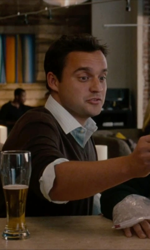 Jake Johnson with Kiton	 Striped Dress Shirt in No Strings Attached