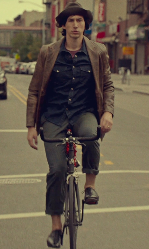 Adam Driver with Marc New York by Andrew Marc Classic Fit Faux Leather Blazer in While We're Young