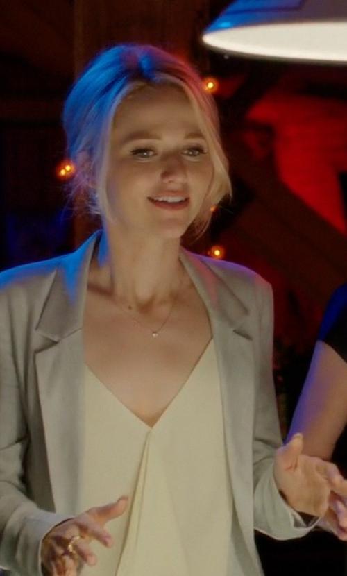 Johanna Braddy with Joseph Single Breasted Blazer in Quantico