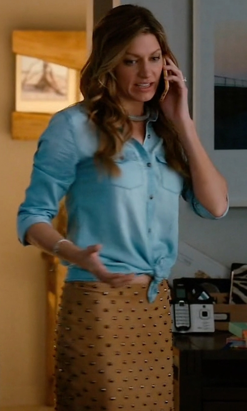 Jes Macallan with Alicia and Olivia Elana Studded Suede Mini Skirt in Mistresses