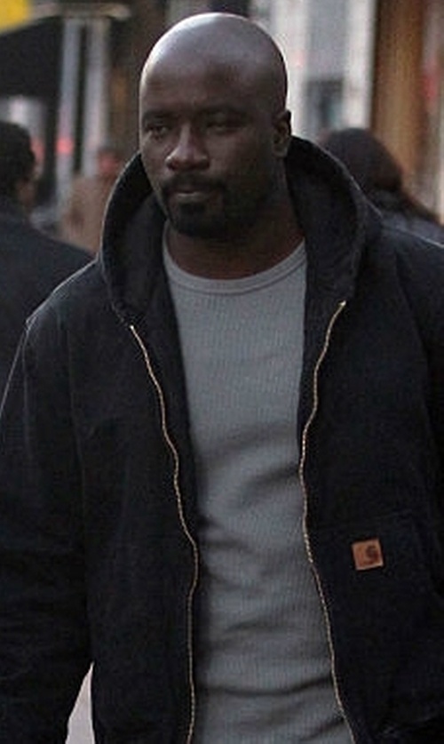 Mike Colter with Carhartt Rain Defender Rutland Thermal Lined Hoodie in Marvel's Luke Cage