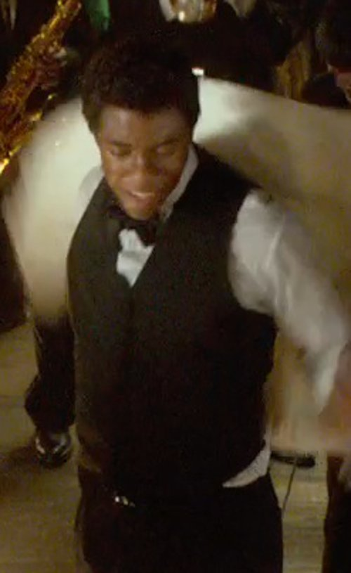 Chadwick Boseman with Theory Chestir Wolcott Waistcoat in Get On Up