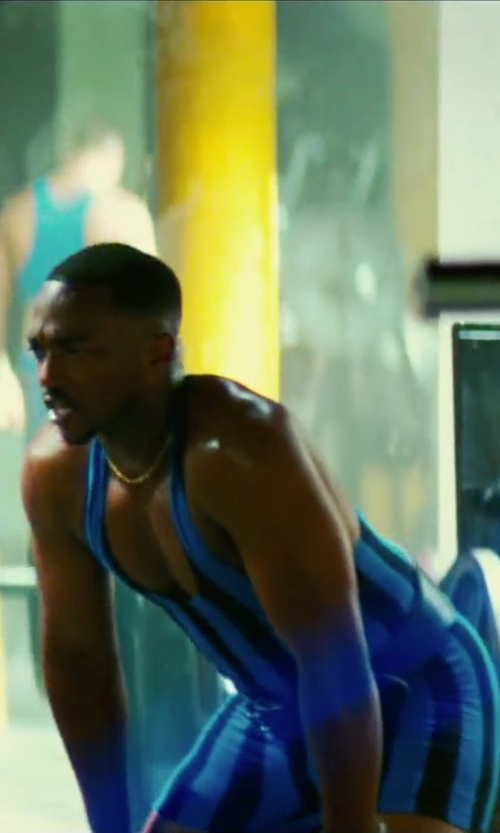 Anthony Mackie with Aliexpress Man Tights Stripes Wrestling Singlet Wrestling Outfit Trunk Bodywear in Pain & Gain