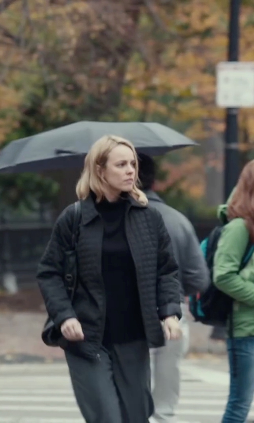 Rachel McAdams with Marc New York Diamond Quilted 'Miley' Hooded Zip Front Jacket in Spotlight