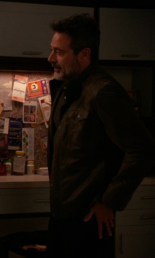 Jeffrey Dean Morgan with Michael Kors Elgin Hidden Hood Field Jacket in The Good Wife