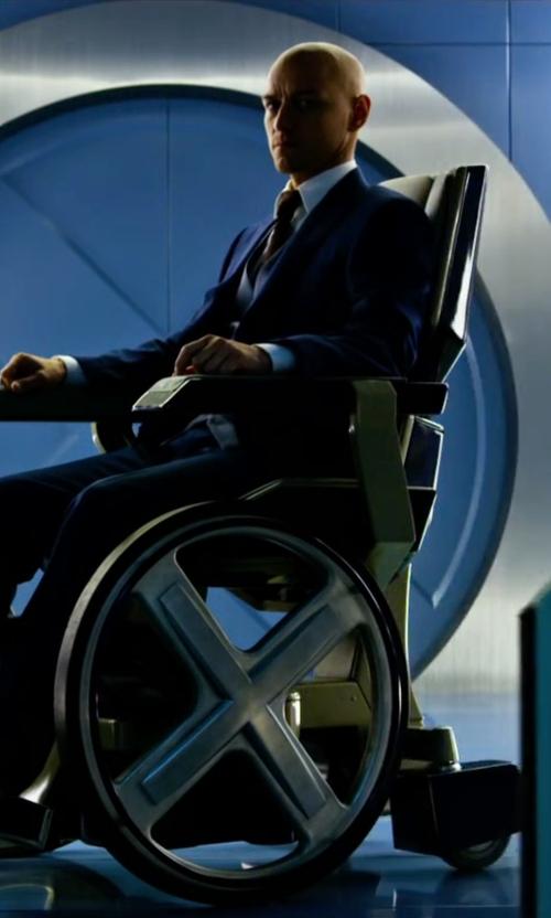James McAvoy with Lagerfeld Satin Vest in X-Men: Apocalypse