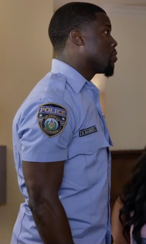 Kevin Hart with Liberty Uniforms Police Short Sleeve Shirt in Ride Along 2