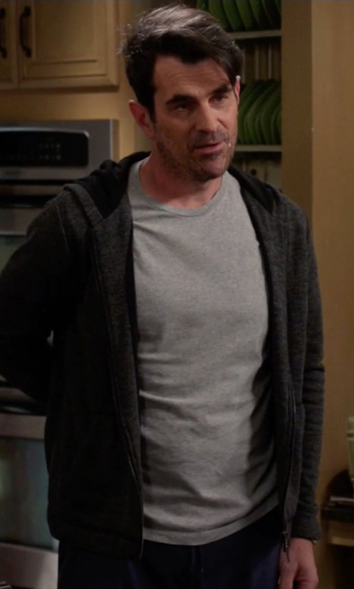 Ty Burrell with ATM French Terry Zip-Up Hoodie in Modern Family