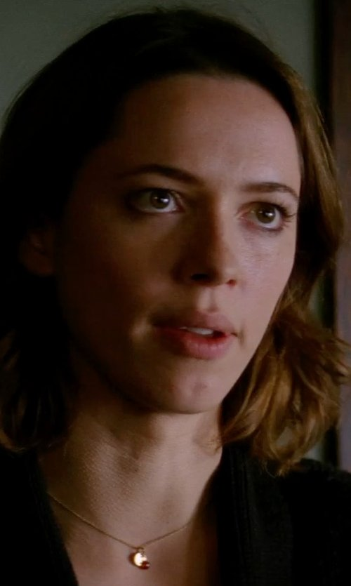 Rebecca Hall with Emily & Ashley XS Monogram Necklace in Transcendence