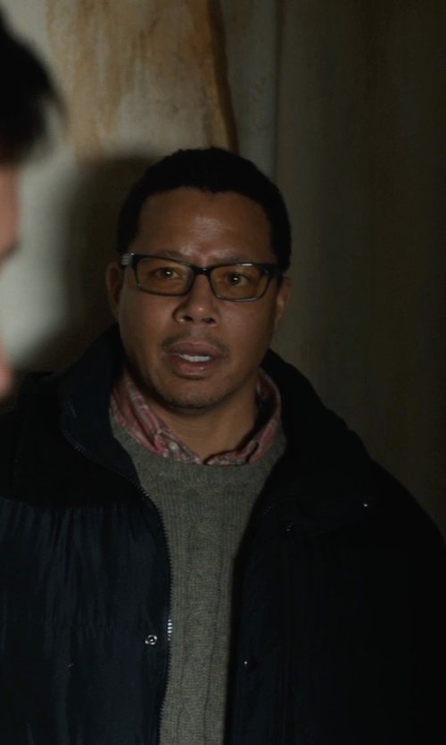 Terrence Howard  with River Island Grey Elbow Patch Crew Neck Sweater in Prisoners