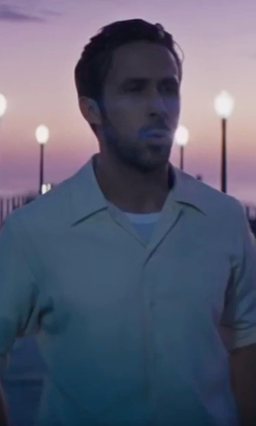 Ryan Gosling with Anto Bespoke Ecru Sport Shirt in La La Land