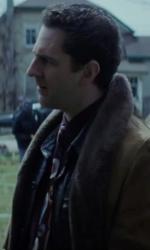 Aaron Abrams with Toria Rose Genuine Lamb's Fur Boa Scarf in Regression