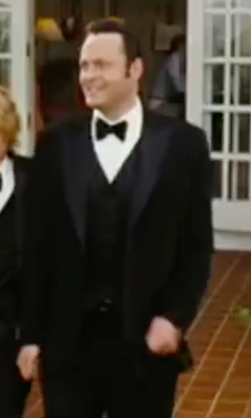Vince Vaughn with Tagliatore Three-Piece Dinner Suit in Wedding Crashers