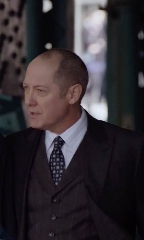 James Spader with Givenchy Two Piece Suit in The Blacklist