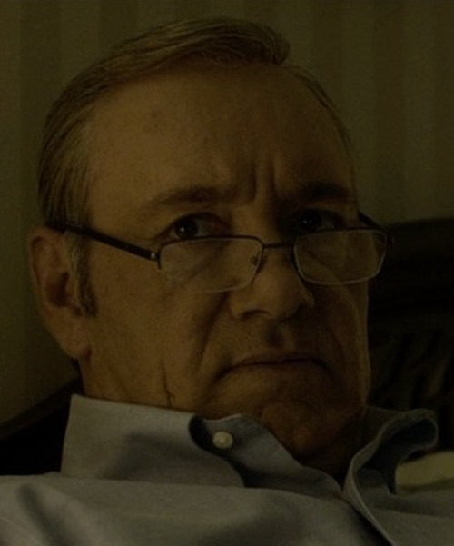 Kevin Spacey with Porsche Design Optical Frame Eyeglasses in House of Cards