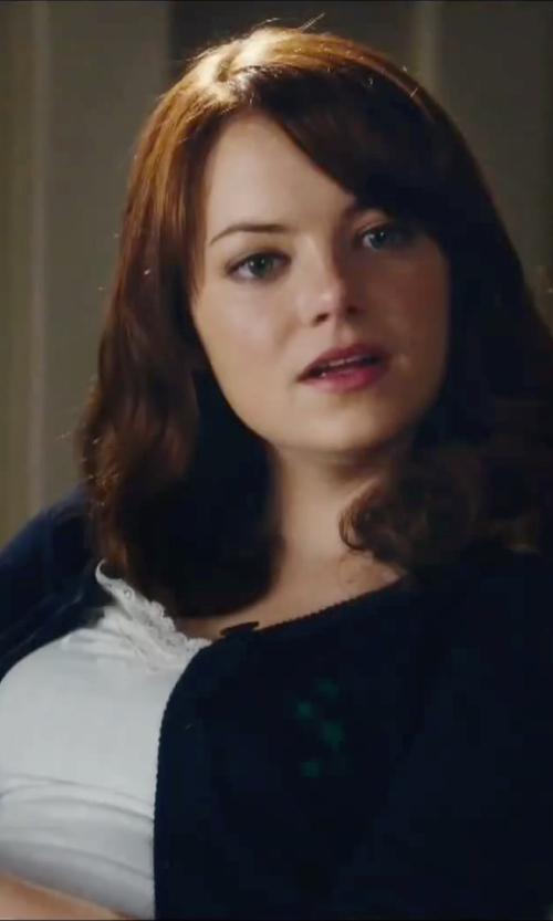 Emma Stone with Paige Jessa Tank Top in Easy A