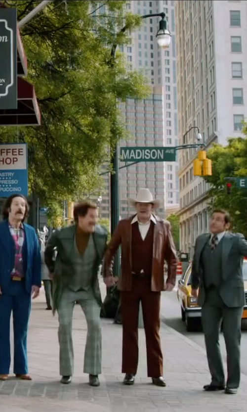 Will Ferrell with Kenneth Cole Reaction Get Busy Oxford Shoes in Anchorman 2: The Legend Continues