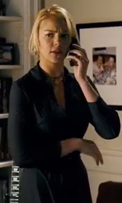Katherine Heigl with Theory 'Jaylis' Silk Shirt Dress in Knocked Up