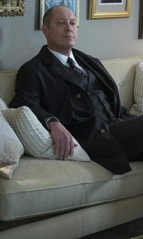 James Spader with Loro Piana Sebring Windmate Storm System Coat in The Blacklist