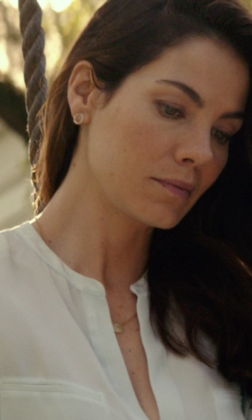 Michelle Monaghan with Vince Welt Pocket Silk Blouse in The Best of Me