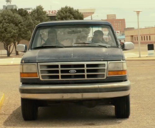 Ben Foster with Ford 1995 F150 Pickup Truck in Hell or High Water
