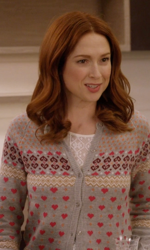 Ellie Kemper with Hanui Stripe Cardigan in Unbreakable Kimmy Schmidt