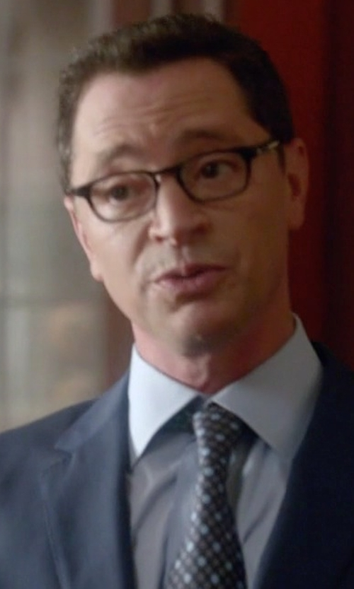Joshua Malina with Salvatore Ferragamo Gancini Print Silk Tie in Scandal