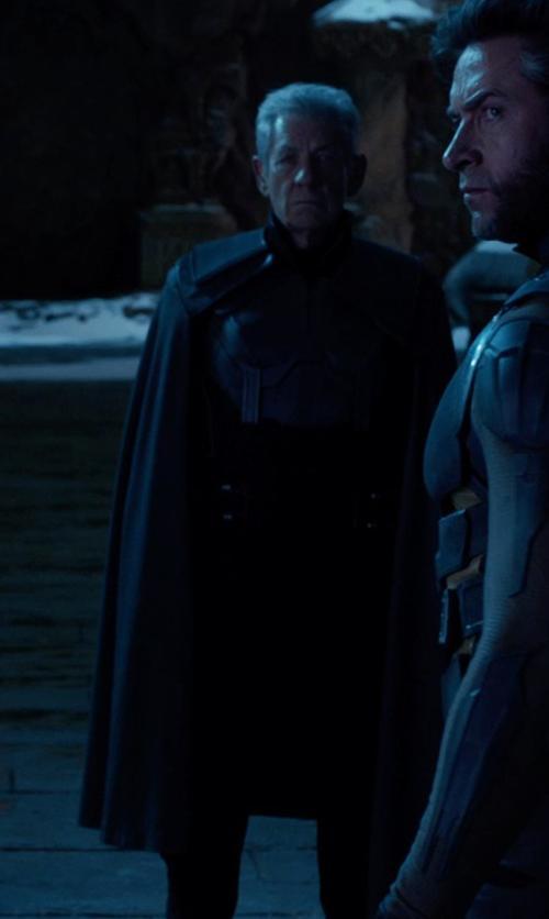 Ian McKellen with Louise Mingenbach (Costume Designer) Custom Made Erik Lehnsherr / Magneto (Older) Costume in X-Men: Days of Future Past