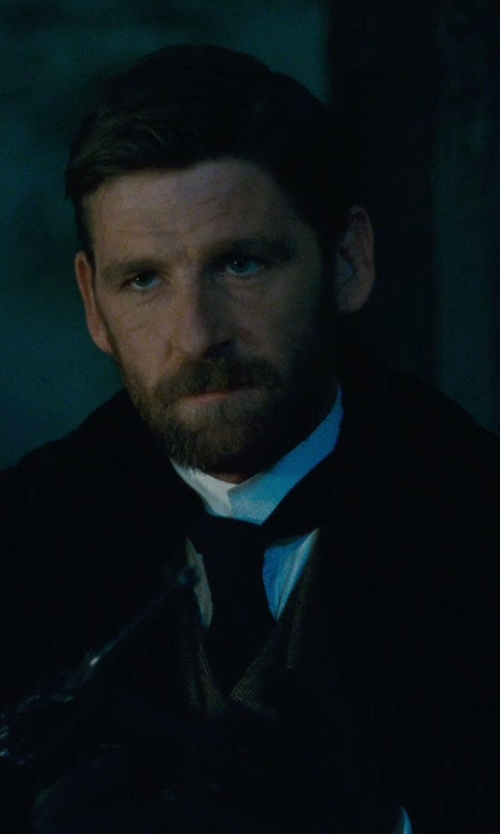 Paul Anderson with Maison Martin Margiela Pleated Yoke Shirt in Sherlock Holmes: A Game of Shadows