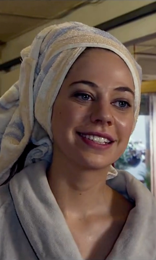 Analeigh Tipton with Kassatex Oxford Stripe 3 Piece Towel Set in Lucy