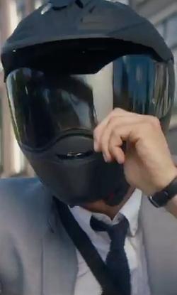 Ryan Reynolds with Shoei Hornet ADV Size Off Road Helmet in The Hitman's Bodyguard