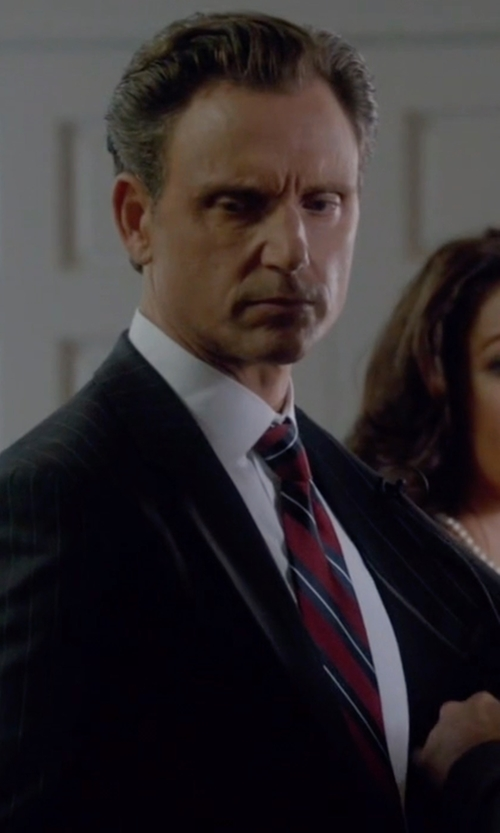 Tony Goldwyn with David Donahue Trim Fit Solid Dress Shirt in Scandal