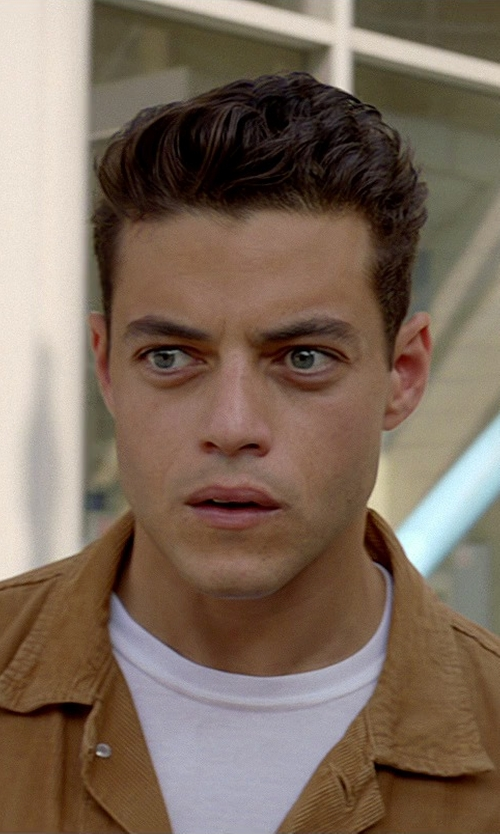 Rami Malek with Perry Ellis Core Luxe Crew Neck T-Shirt in Need for Speed