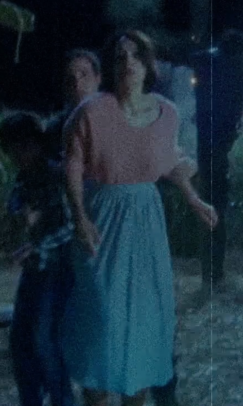 Shannyn Sossamon with Windsor Floral Major Class Mint Maxi Skirt in Sinister 2
