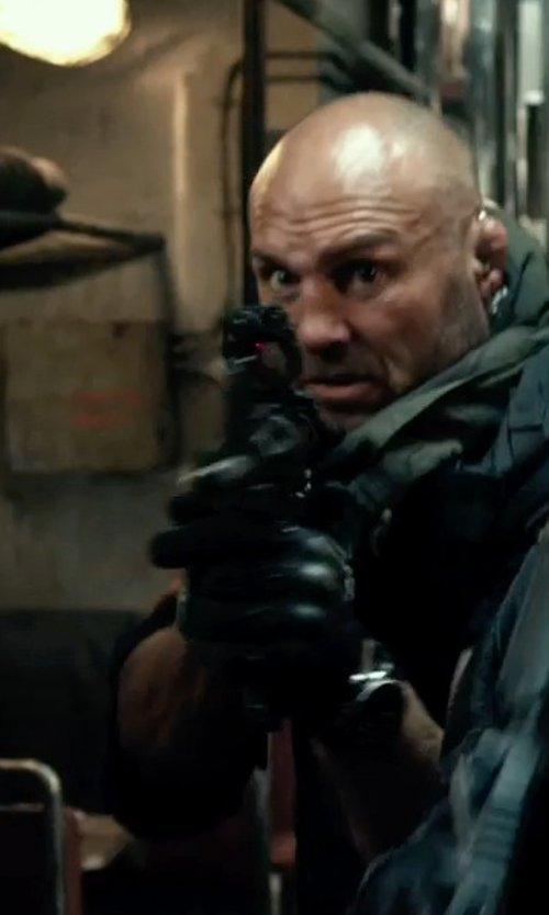 Randy Couture with Hatch Resister Kevlar Gloves in The Expendables 3