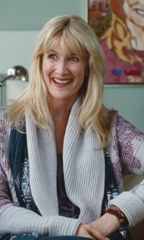 Laura Dern with Hipchik Couture Wooden Buddha Bracelet Set in Little Fockers