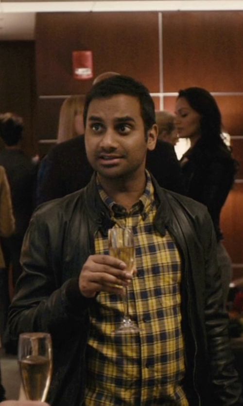 Aziz Ansari with Jack & Jones Premium Leather Jacket in Master of None